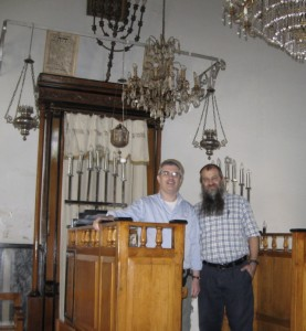 Ari Greenspan and Ari Zivotofsky in the Synagogue in Asmara , Ethiopia 2009