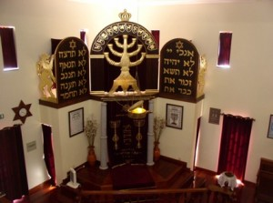 Inside of shul Belmonte