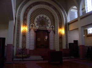 View from Inside the main sanctuary in Porto