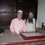 Greenspan and Zivotofsky in the shul in Bahrain 2009
