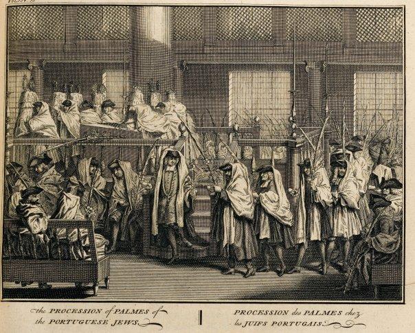 b. Bernard Picart - Portuguese Jews on Sukkot