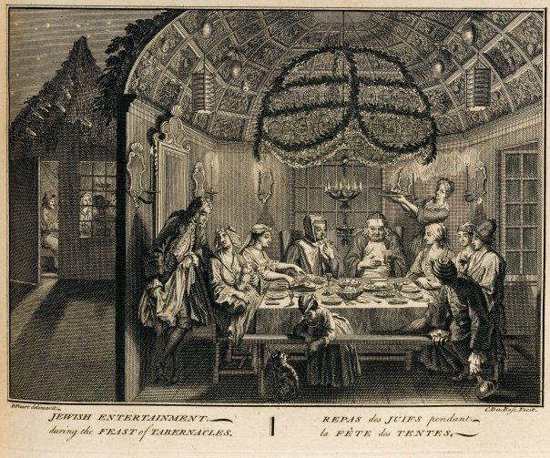 c. Bernard Picart - Sitting in a Sukka