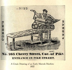 matzah machine  New York mid 19th century