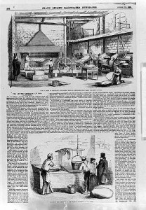 Matzah Preparations Frank Leslies Illustrated Newspaper April 1858